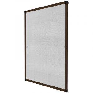 TecTake Moustiquaire pour fenêtre cardre en aluminium diverses couleurs et tailles au choix (120x140cm | marrron | no. 401210)