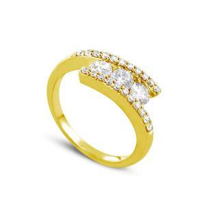 Rêve de diamants 3612030095979 - Bague en or jaune sertie de diamants