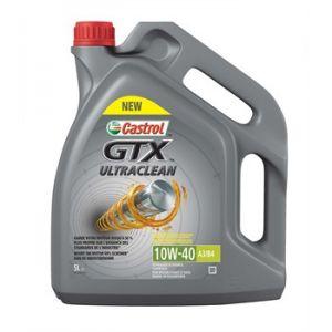 Castrol Huile moteur GTX Ultraclean 10W40 A3/B4 Essence et Diesel 5 L