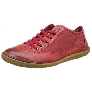 Image de Kickers Hollyday, Baskets Basses Femme, Rouge (Rouge), 36 EU