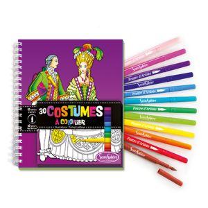 Sentosphère Carnet de coloriage et feutres Costumes