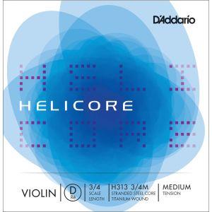 D'Addario Bowed Corde seule (Ré) pour violon Helicore, manche 3/4, tension Medium