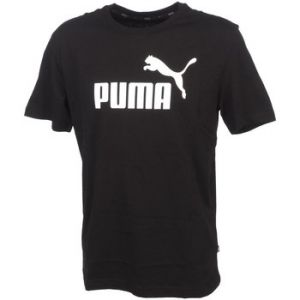 Puma Polo Ess logo tee black mc Noir - Taille EU L
