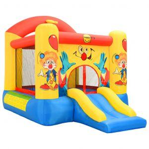 Happy Hop VidaXL Château Gonflable avec Toboggan 330x230x230 cm Aire de Jeux pour Enfant Jeu de Plein Air Jardin Cour Extérieur Parc de Jeux PVC