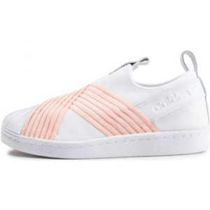 Adidas Superstar Slip-on Blanc Et Orange Femme Baskets/Tennis Femme
