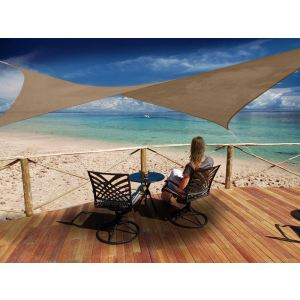 Morel VSA 36 - Voile d'ombrage carré Austral 3,60 x 3,60 m - 180 g/m²