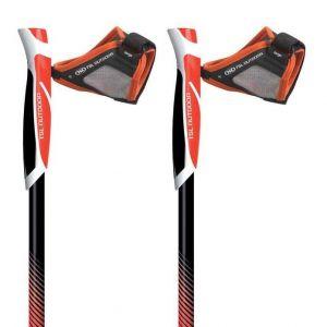 TSL Outdoor Bâtons de randonnée Trail Carb Spike 2 Units - Black / Red / Yellow - Taille 110 cm / S
