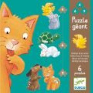 Djeco Puzzle Mistigri et ses amis de 4,6 et 9 pièces