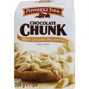 Pepperidge farm Cookies croustillants aux morceaux de chocolat blanc et aux noix de macadamia - Le paquet de 204g