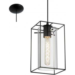 Eglo Lampe suspendue LONCINO Noir, 1 lumière