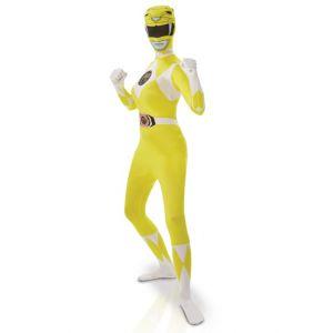 Rubie's Déguisement seconde peau Power Rangers jaune femme Taille M