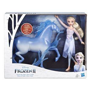 Hasbro Poupée Elsa avec son cheval Nokk - La Reine des Neiges 2