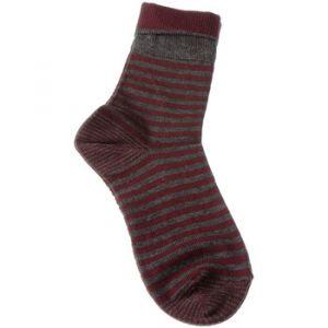 Esprit Chaussettes Chaussettes Niveau mollet - Coton - Fold Stripe Gris - Taille 39 / 42,35 / 38