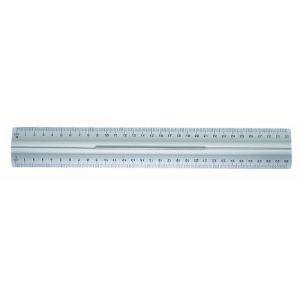 Wedo Règle plate en aluminium avec poignée 30 cm