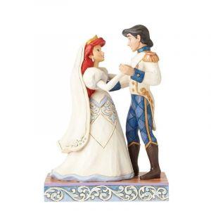 Enesco Figurine Ariel et Son Prince Eric - Les Mariés - Couple
