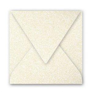 Clairefontaine 12086C - Enveloppe Pollen 120x120, 120 g/m², coloris ivoire irisé, en paquet cellophané de 20