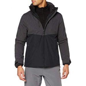 Lafuma Access 3In1 Fleece JKT M Veste 3 en 1 Homme, Anthracite Grey, FR : S (Taille Fabricant : S)