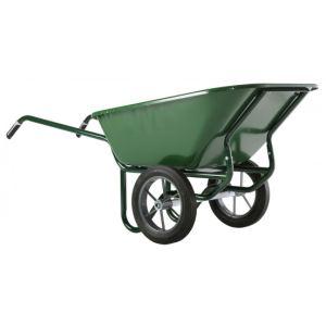 Haemmerlin 306053701 - Brouette Expert Twin peinte roues pleines 230 L