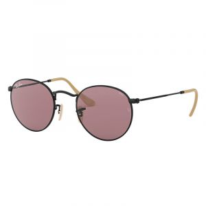 0d6a55ff146ccc Ray-Ban Ray Ban Round evolve Unisex Sunglasses Verres  Violet, Monture  Noir
