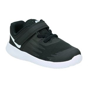 Nike Star Runner (TDV), Chaussures de Running Compétition Mixte Enfant, Noir (Black/White-Volt 001), 27 EU