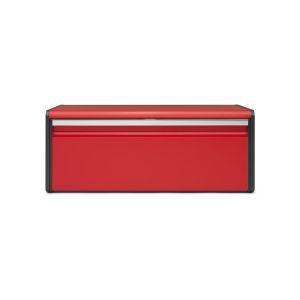 Image de Brabantia 484025 Boîte à Pain avec Couvercle Acier Passion Red 25 x 46,4 x 18,7 cm