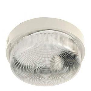 Velamp Plafonnier D'exterieur - BIGBOB: hublot rond 22cm en plastique + verre E27 max 60W - Blanc