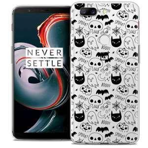 CaseInk Coque OnePlus 5T (6 ) Extra Fine Halloween Spooky