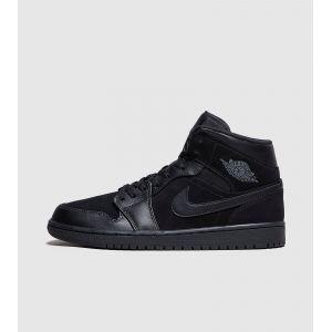 Nike Chaussure Air Jordan 1 Mid pour Homme - Noir - Taille 47.5 - Male