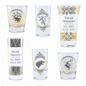 Half Moon Bay KNK Liqueur Shot Glasses in Gift Box - Game of Thrones Set of 6