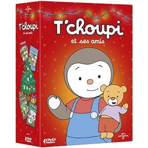 Coffret T'Choupi : Le Cache-Cache géant + La Cabane des Copains + T'choupi et ses Amis Font du Poney + Le Plus Beau Sapin de Noël
