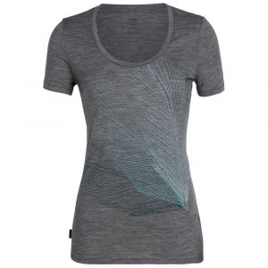 Icebreaker Wmns Tech Lite SS Scoop Plume Gritstone Heather T-shirts