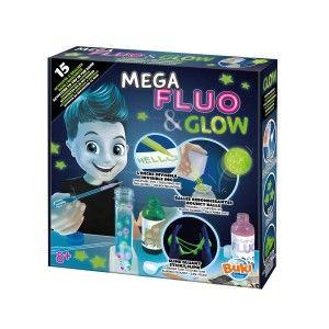 Buki France Coffret mega fluo et glow slime 15 expériences