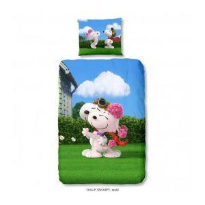 Ogo Parure de couette Snoopy Love 3D (140 x 200 cm)