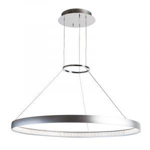 Regenbogen Lustre métallique LED anneau suspendu