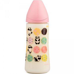 Suavinex Biberon physiologique tétine silicone Panda 360 ml