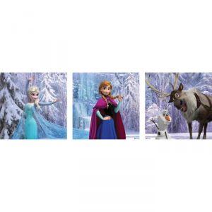 La Reine des neiges - Tableau déco 3 toiles (3x 30 x 30 cm)