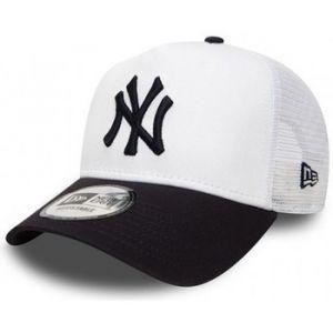 A New Era New York Trucker Cap, White/Navy