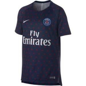 Nike Haut de football à manches courtes Paris Saint-Germain Dri-FIT Squad pour Enfant plus âgé - Bleu - Taille M