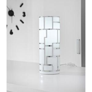 Eglo Lampe à poser Bayman cylindrique en verre et métal (27 cm)