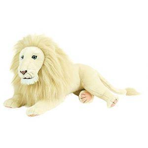 Jemini MIA ET LE LION BLANC Peluche lion - Blanc - MIA ET LE LION BLANC Peluche lion - Réf: 023715 - 45 cm couché - Blanc - Pour enfant .