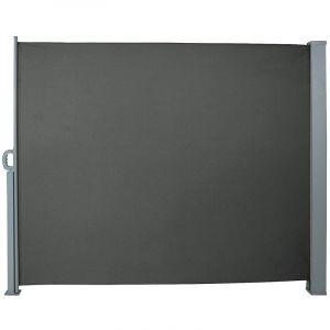 Auvent store latéral brise-vue abri paravent soleil aluminium rétractable hauteur 160 cm longueur 300 cm gris