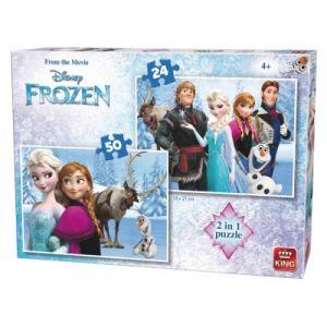 King International 2 puzzles La Reine Des Neiges 24 pièces