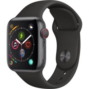 Apple Watch Series 4 + Cellular - 40mm - Alu Gris Sidéral / Bracelet Sport Noir