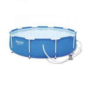Bestway Piscine tubulaire ronde Steel Pro Frame Pools D. 3.66mx0.76m et filtration