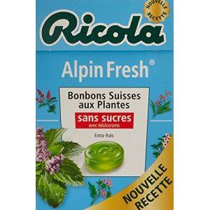 Ricola Alpin Fresh - Bonbons suisses aux plantes sans sucres - La boite de 50g