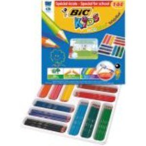 Bic 4001052 - Classpack de 144 Crayons de couleur Evolution assorties