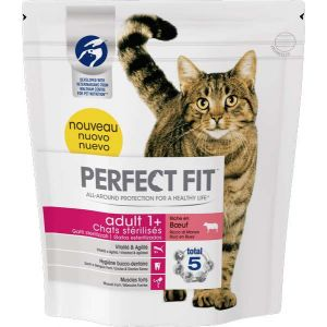Perfect fit Adult 1+ chats stérilisés - Boeuf 1,4 kg