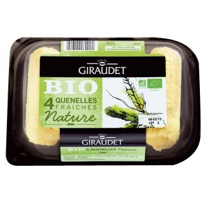 Giraudet Quenelles nature Bio 4 x 80 g