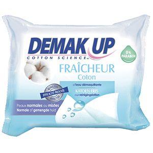 Demak Up Fraîcheur Coton - Lingettes démaquillantes peaux sèches ou sensibles - 25 Lingettes