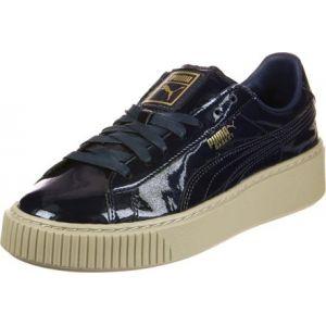 Puma Basket Platform Patent, Sneakers Basses Femme, Bleu (Peacoat-Peacoat), 37 EU